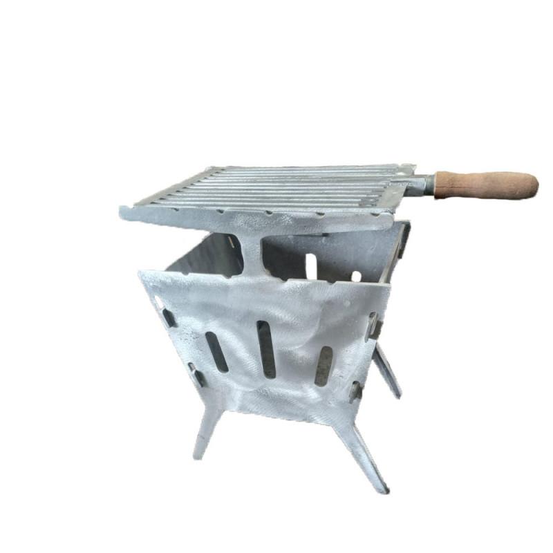 Churrasqueira Pequena em Aluminio Desmontavel