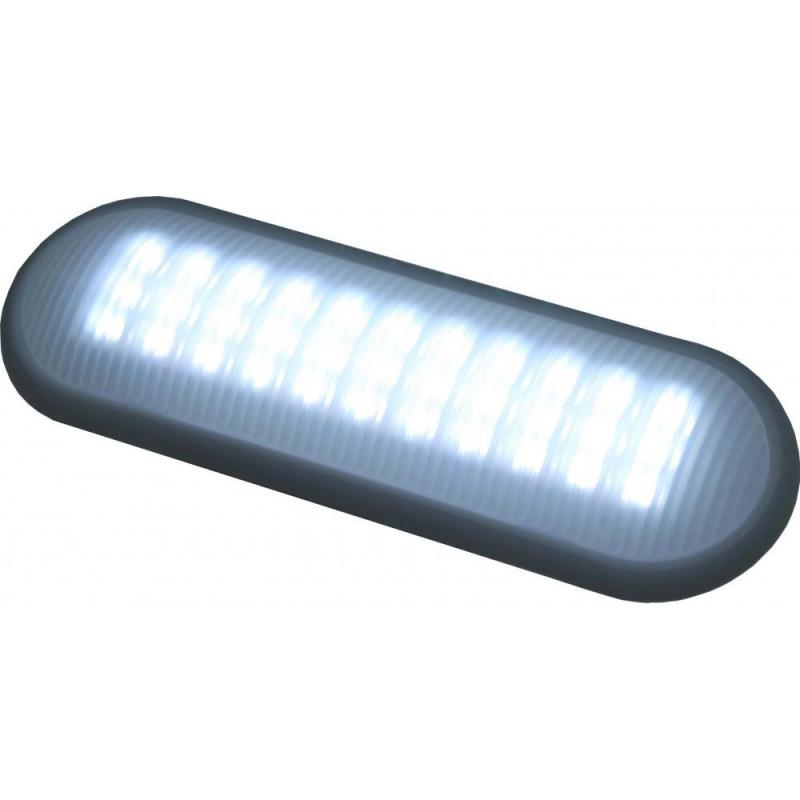 Luminaria Retangular Pequena 12V 60 Leds c/ Interruptor